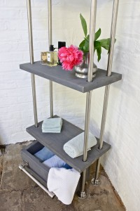 Bespoke industrial bathroom shelf / storage unit