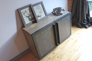 Reclaimed scaffolding media unit
