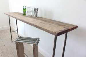 Reclaimed Scaffolding Board Bar Table