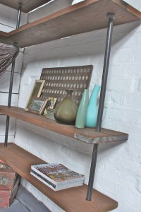 Industrial Style Corner Shelves