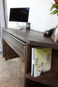 Urban bespoke reclaimed desk with storage and shelving