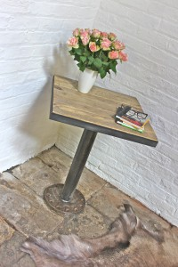 Reclaimed and Distressed Pedestal table