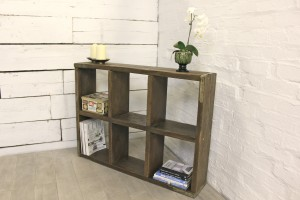 Bespoke reclaimed scaffolding display cube