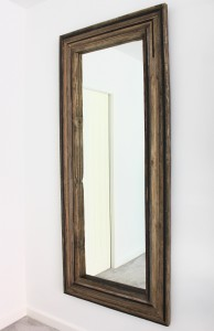 Bespoke layered mirror made from reclaimed wood