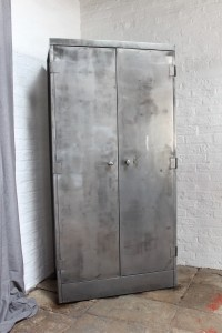 Vintage Steel Stationery Cupboard