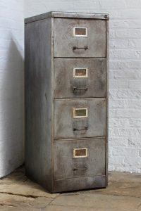 Vintage reclaimed urban 1940s steel filing cabinet