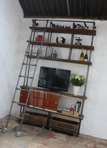 Industrial Style TV and General Storage Shelving System