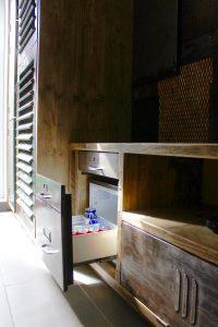 Bespoke reclaimed scaffolding board vintage filing cabinet media unit