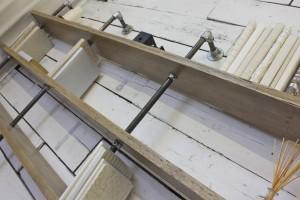 reclaimed scaffolding board bookshelves