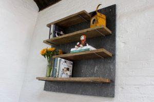 bespoke urban reclaimed scaffolding board shelving
