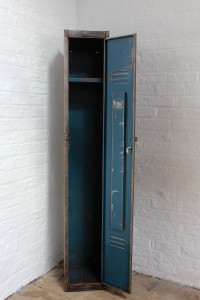 Vintage Stripped Steel School/Gym/Sports Locker with a stunning aged Patina