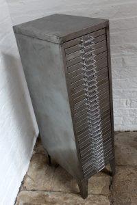 Reclaimed vintage 1960s steel filing cabinet