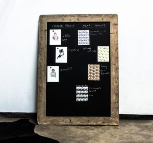 Bespoke Industrial Reclaimed large chalkboard with scaffolding board