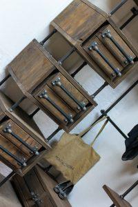 bespoke industrial reclaimed open wardrobe and storage