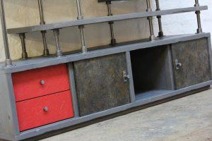 bespoke industrial reclaimed scaffolding freestanding wardrobe